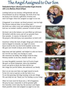 The Angel Assigned to Our Son, a poem for Amanda from Marissa, Shawn & Ryan