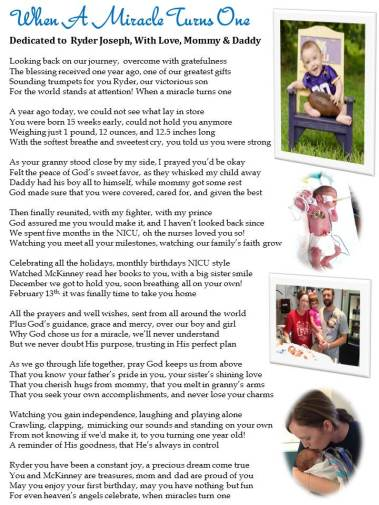 """I'mOrder a Personalized Preemie """"Journey"""" Poem from"""