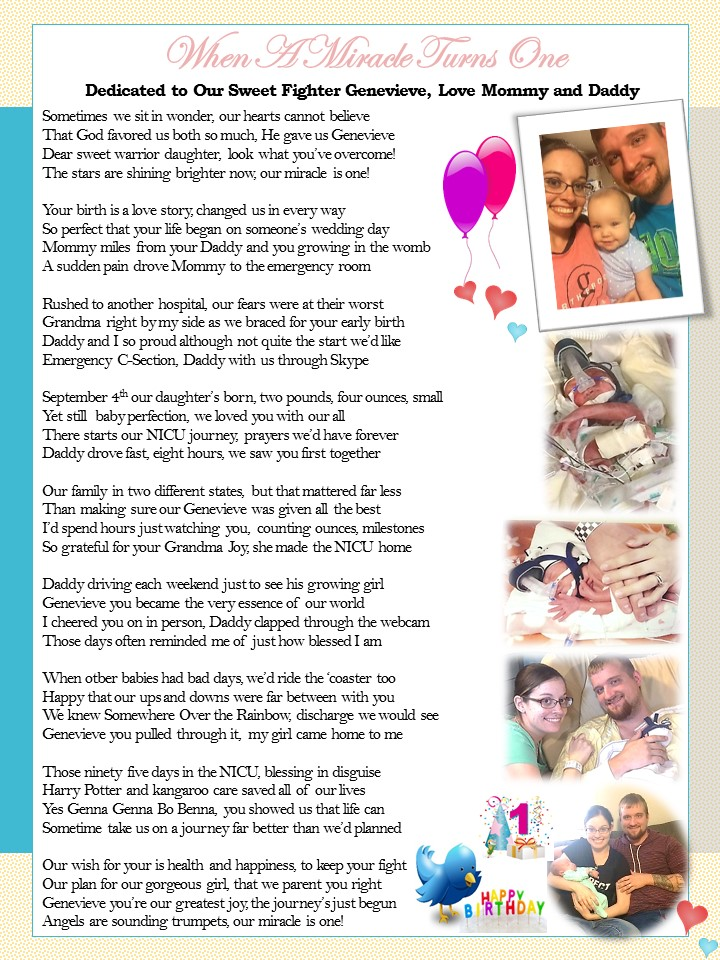 The Strength of Our Miracle Girls, for Genevieve